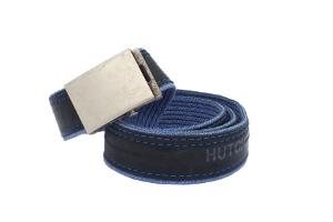 pánský dámský unisex stylový design opasek modré džíny s duší HUTCHINSON opasek modré džíny s duší HUTCHINSON