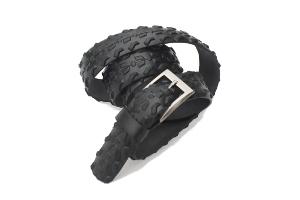 stylový módní design opasek modní doplněk pro muže i ženy z pláště opasek černý kohoutí dráp