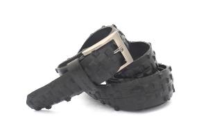 stylový módní design opasek modní doplněk pro muže i ženy pásek černá kostka FIT TO EUROPEAN