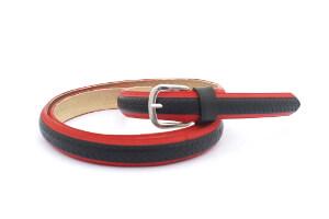 stylový módní design dámský, pánský, unisex opasek červená úžovka opasek červená úžovka