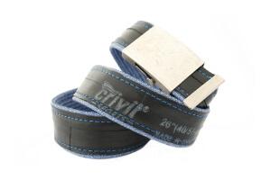 opasek z duše modré džíny s nápisem CRIVIT