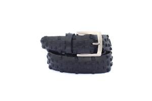 opasek z pláště černá kostka