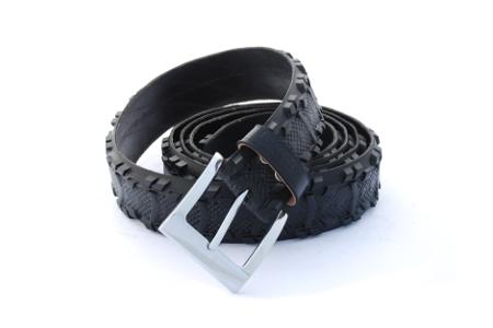 Opasek černý čistá krajnice  s výrazným vzorkem ke kalhotám