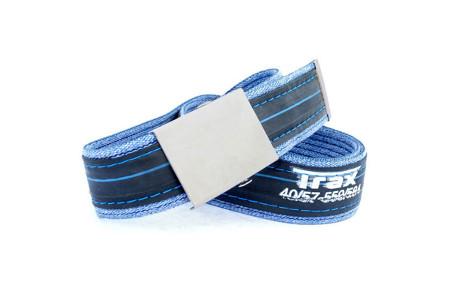 modré džíny Trax