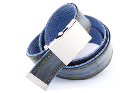 pásek modré džíny