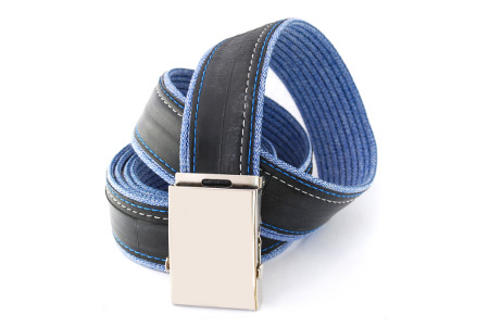 pásek modré džíny 3 pruhy