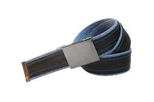 modré džíny s nápisem DURO