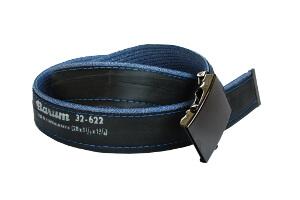 opasek modré džíny s nápisem Barum